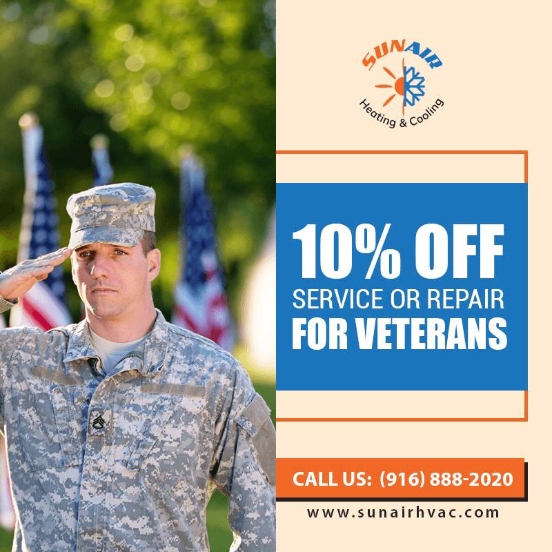 10% off Service or Repair for Veterans